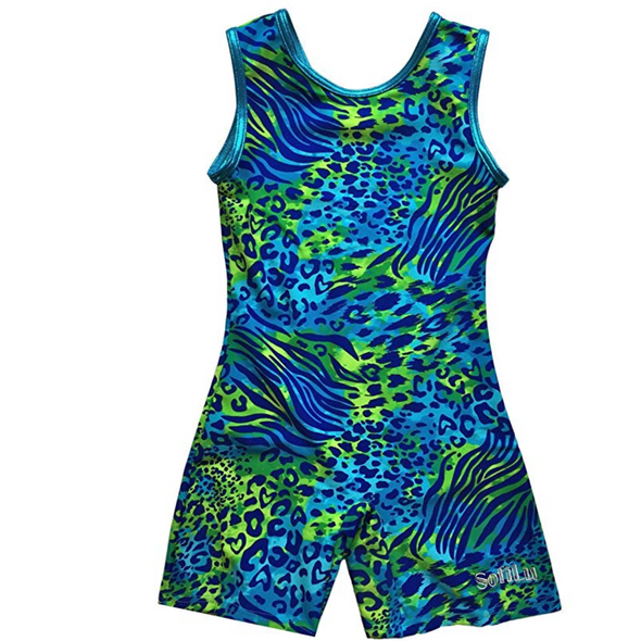 Smart Stretch Girl Gymnastics Leotard - Pike Biketard Style