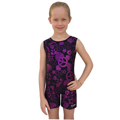 Smart Stretch Girl Gymnastics Biketard - Gym