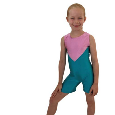 Smart Stretch Girl Gymnastics Biketard - Acro