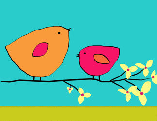 Printable Wall Art for Kids - Birds on branch