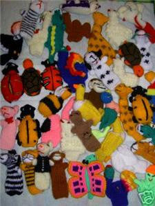 Fair Labor Set of 5 Finger Puppets - Handknit in Peru