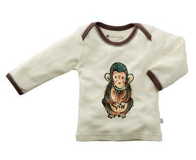 Janey Organic Long Sleeve Baby Lounge Tee CLEARANCE