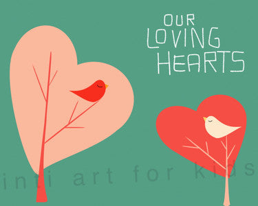 Printable Wall Art for Kids - Our Loving Hearts