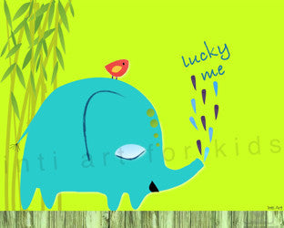 Printable Wall Art for Kids - Lucky Me (Green)