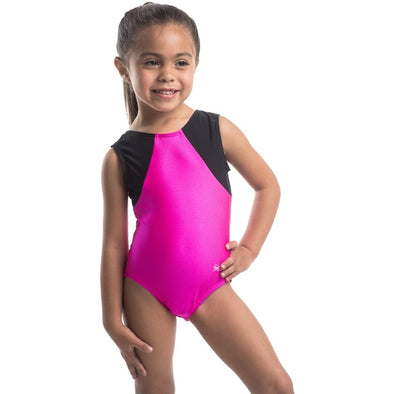 Smart Stretch Girl Gymnastics Leotard - Acro Hot Pink