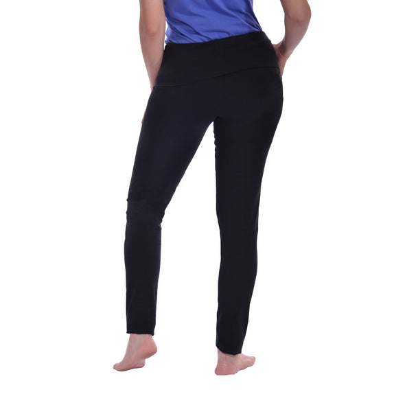 Maternity Cotton Leggings Pants, Fold Over Waist Band Over/Under Belly