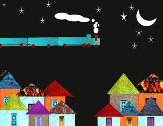 Printable Wall Art for Kids - Midnight Train