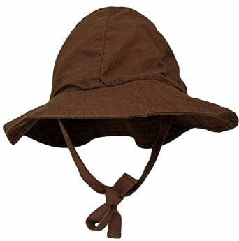 Lukeeno Organic Cotton Baby Boy Girl Sun Hat - Wide Brim