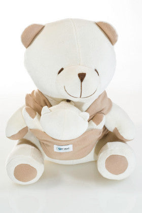 Sleepy Bear - Organic Cotton Stuffed Bear