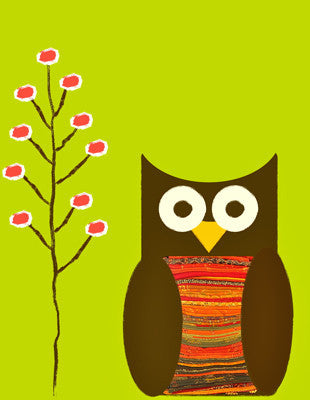 Printable Wall Art for Kids - Owl Print