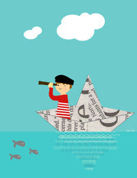 Printable Wall Art for Kids - Paper Boat