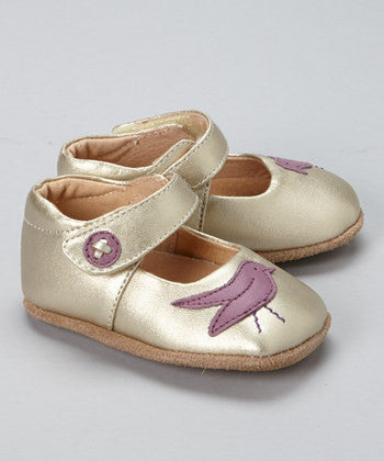 Livie and Luca Soft Sole Leather Baby Shoes - Pio Pio Gold (older version)