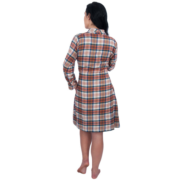 Long Sleeve Cozy Flannel Robe