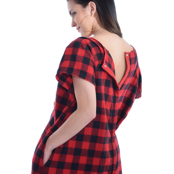 Hospital Maternity and Delivery Gown -  Cozy Flannel