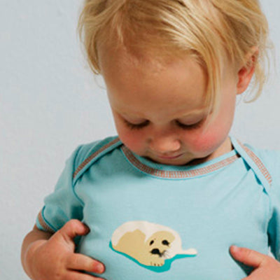 Speesees Organic Short or Long Sleeve Bodysuit - Pup - CLEARANCE
