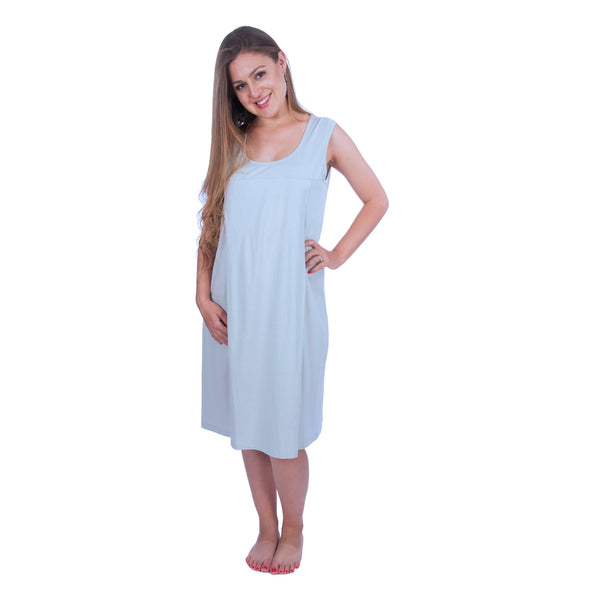 Sleeveless Nursing Nightgown and Essential Robe - 2 Piece Set