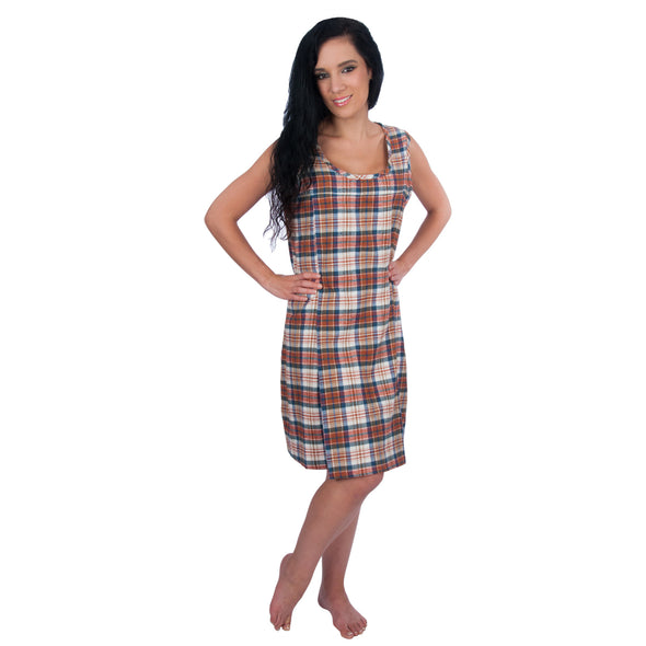 Sleeveless Nursing Nightgown and Robe - 2 Piece Set - Cozy Flannel