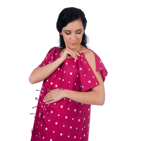 The Smart Hospital Delivery Gown: easy epidural, fetal monitoring, IV access
