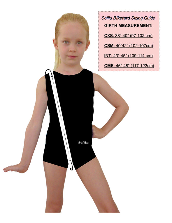 Smart Stretch Girl Gymnastics Leotard - Rudi Biketard Style