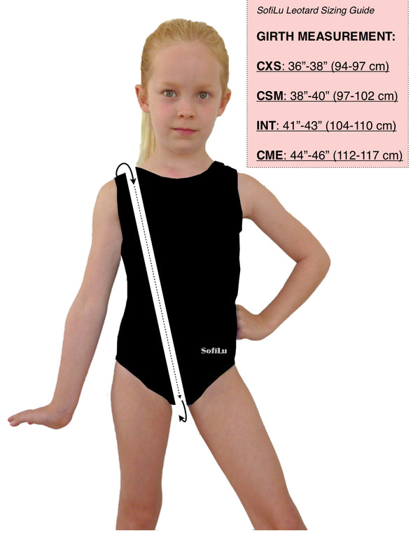 Girl Gymnastics Leotard 4-Way Smart Stretch - Pike