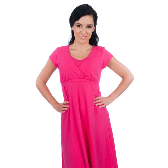 Maternity Nursing Nightgown/Sleepwear Dress - Sophie Gown - Made in USA
