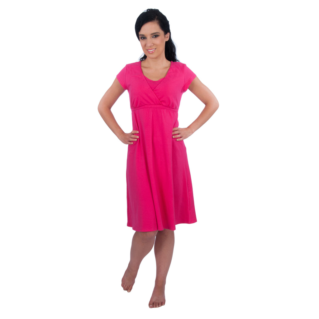 6866692a516 Maternity Nursing Nightgown Sleepwear Dress - Sophie Gown - Made in US – My  Bella Mama™