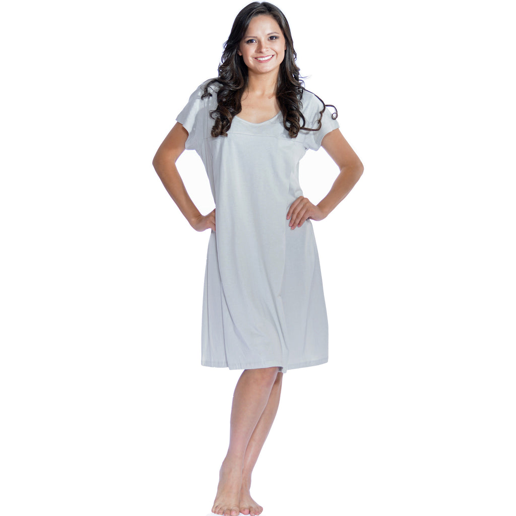 Short Sleeve Nursing Sleepwear Breastfeeding/Nightgown – My Bella Mama™