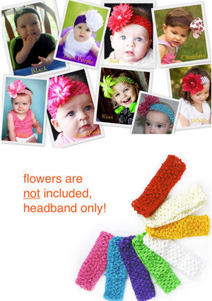 Baby and Toddler Crocheted Headbands
