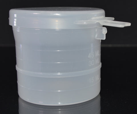 90ml (3oz) 3-Seal Touch-Top Container Jars with Locking Latch Lids, 50/Case