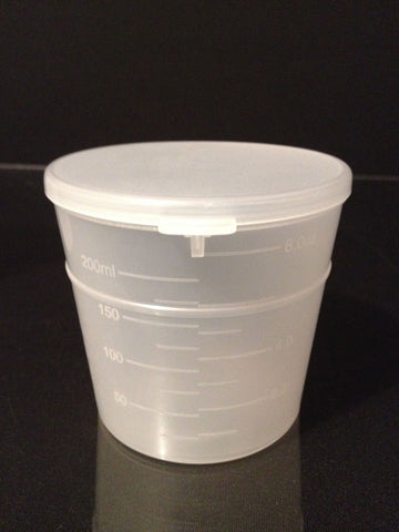240ml (8oz) 3-Seal Touch-Top Container Jars with Attached Lids, 25/Case