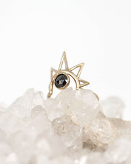 Black Diamond Sun Ring