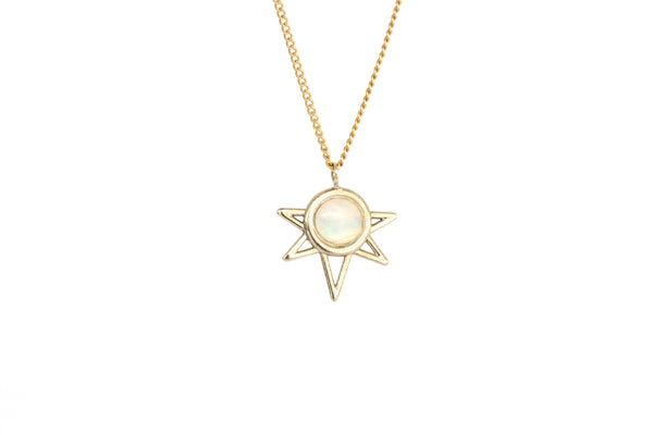 Mini Sun Necklace - OPAL