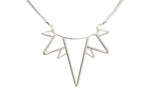 Silver Collar Sun Necklace