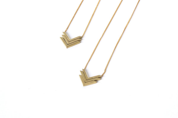 Triple V Necklace