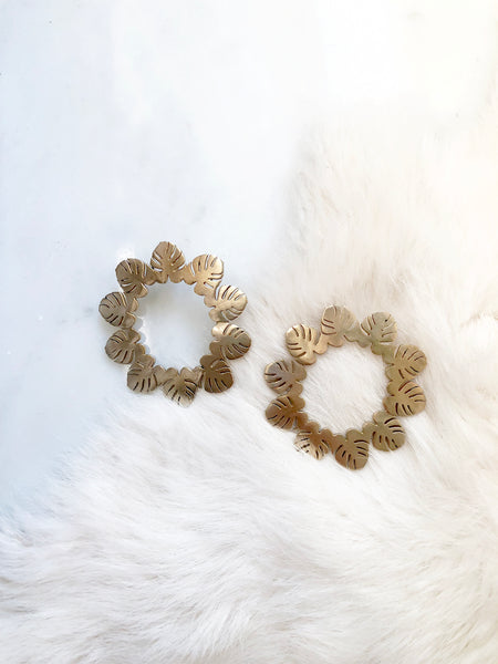Circle of Leaves Hoops