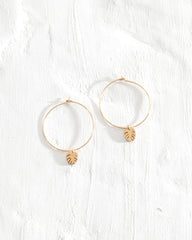 Dangling Leaf Hoops