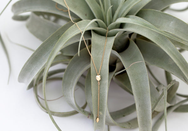 Lariat Leaf Necklace