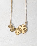 4 Dainty Leaves Necklace