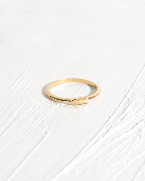 Triple Arrow Stacking Ring