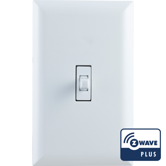 GE Z-Wave Plus In-Wall Smart Switch, White Toggle