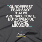 """Infinite Possibilities / Deepest Fear"" T-shirt – Asphalt"