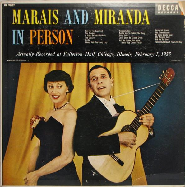 Marais And Miranda - Marais And Miranda In Person (LP, Mono, Used) - Used Records - Decca at Funky Moose Records