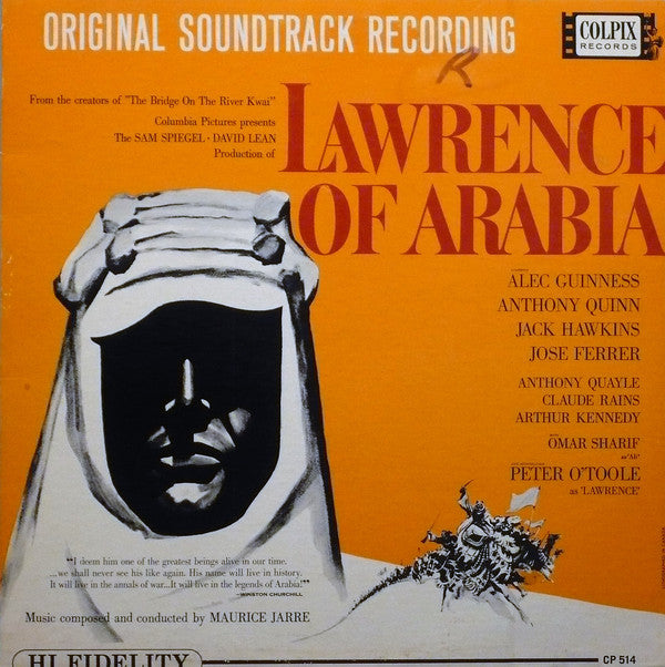 Maurice Jarre - Original Soundtrack Recording:  Lawrence Of Arabia (LP, Used) - Used Records - Colpix Records at Funky Moose Records