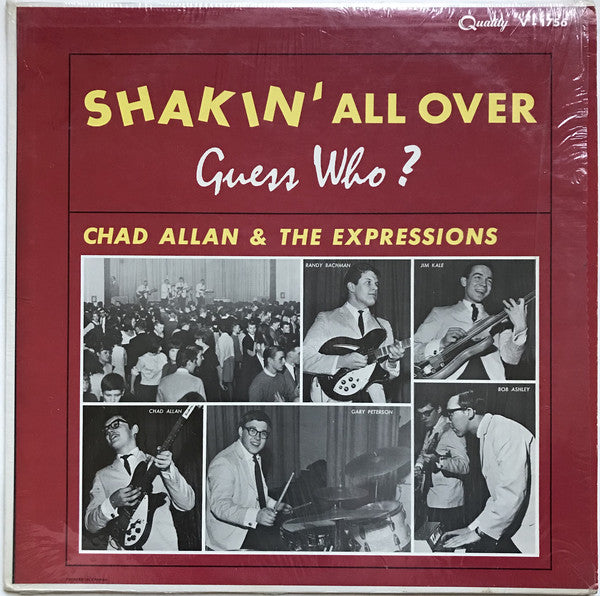 Chad Allan & The Expressions - Shakin' All Over - Guess Who? (LP, Album, Mono, Used)