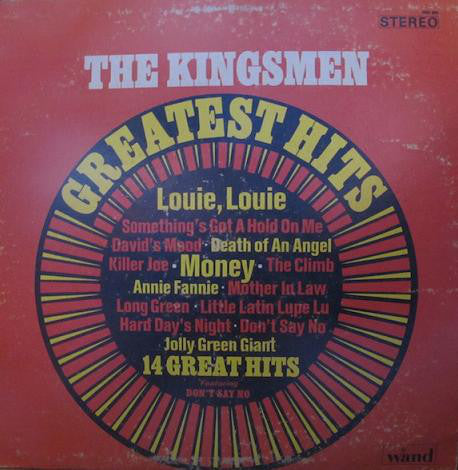 The Kingsmen - The Kingsmen Greatest Hits (LP, Album, Comp, Used) - Used Records - Wand at Funky Moose Records