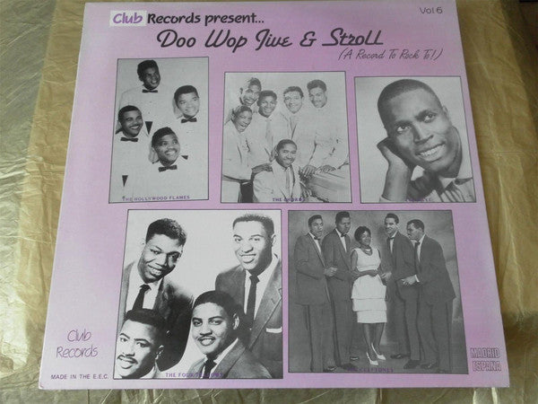 Various - Doo Wop Jive & Stroll vol.6 (LP, Comp, Used) - Used Records - Club Records (8) at Funky Moose Records