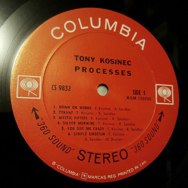 Tony Kosinec - Processes (LP, Album, Used) - Used Records - Columbia at Funky Moose Records