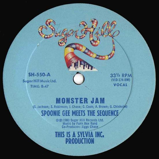 "Spoonie Gee Meets The Sequence - Monster Jam (12"", Used) - Used Records - Sugar Hill Records at Funky Moose Records"