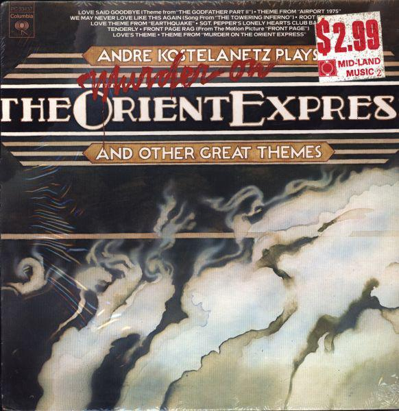André Kostelanetz - Plays Murder On The Orient Express And Other Great Themes (LP, Used)Used Records