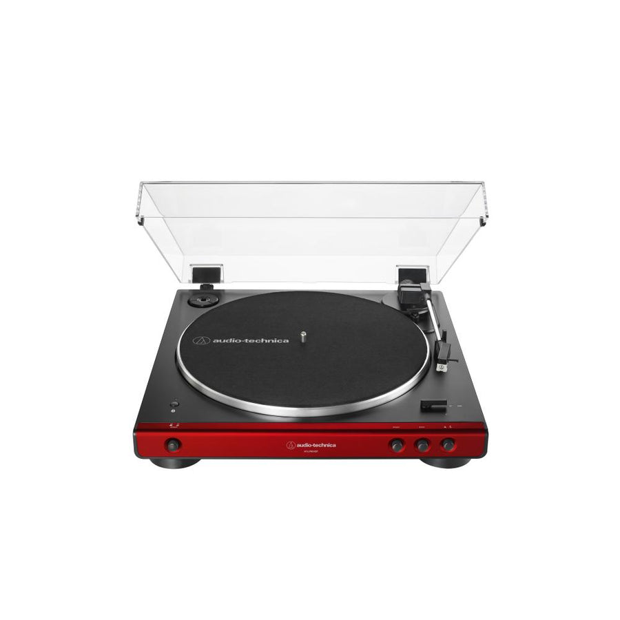 Audio Technica AT-LP60XBT Fully Automatic Wireless Belt-Drive Turntable With BluetoothTurntableRed